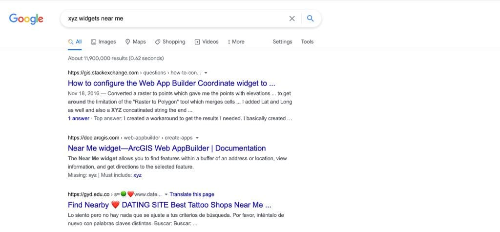 Google Search with no Ads